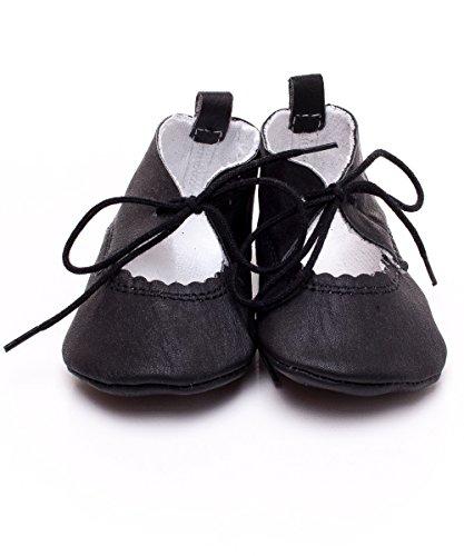 Toma - Zapatos primeros pasos de cuero para niño Black - Black