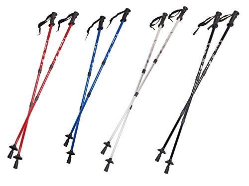 Nordic Walking 65-135cm bâtons de marche nordique set - 2 pièces (ROUGE)