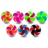 10 Pieces (5 Pairs) Mix Color Pack 1.6x5MM Threaded UV 2 Tone UV Pin Wheel Acrylic Ball