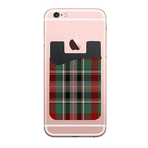 Cellcardphone Bruce of Kinnaird Clan Family Tartan Custom Phone Card Holder, ID Credit Card Wallet Phone Case Pouch Sleeve Pocket Compatible with Most of Smartphones(iPhone/Android)