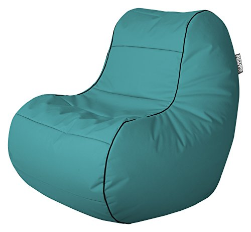 Gouchee Home Chillybean Collection Contemporary Polyester Upholstered Plush Scuba Bean Bag Chair, Turquoise