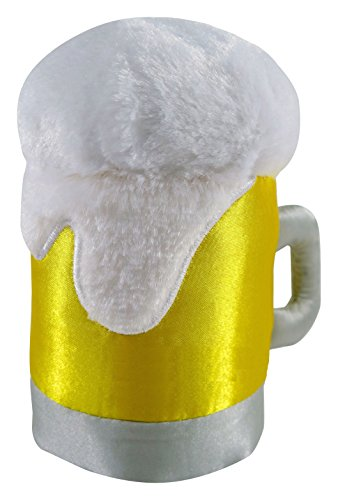 Anit Accessories Comical Beer Mug Plush Toy, Gold