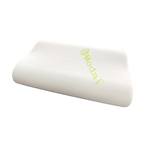 Cooling Memory Foam Pillow - with Luxury Pillow Cover/for Optimal Comfort and Neck Pain Relief/White by CozyMattress