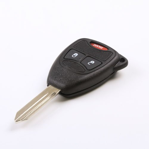 WBOY 3 Buttons keyless entry fob Remote key fob case shell Compatible With Jeep Chrysler Dodge Ram 1500 2006 2007 2008 2Button+Panic