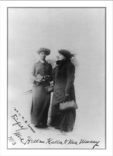 Historic Print (L): Helen Keller and Mrs. John A. Macy (Anne Sullivan) (Images Of Helen Keller And Anne Sullivan)
