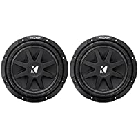 (2) KICKER 43C124 Comp 12 Car Subwoofers Totaling 600 Watt with Single Voice Coil