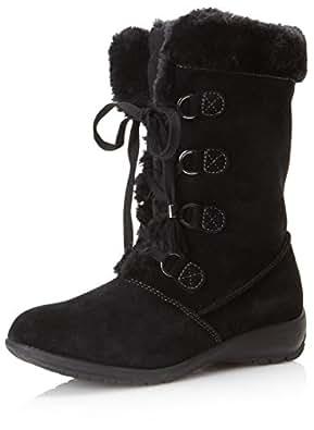 Sporto Women's Jewel Boot, Black, 6 M US