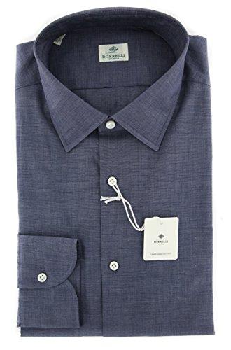 new-luigi-borrelli-dark-blue-solid-extra-slim-shirt