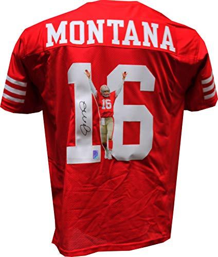 (Authentic Joe Montana Autographed Signed Custom Image Jersey (Montana Hologram) San Francisco 49ers QB HOF)