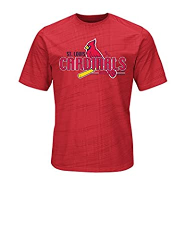 MLB St. Louis Cardinals Men's Bringing The Glory Tops, Red, Large - Cincinnati Reds Polo