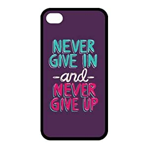 iphone covers High Quality Customizable Durable Rubber Material applied Never Give Up Iphone 5c honey Back Cover have Case Heart