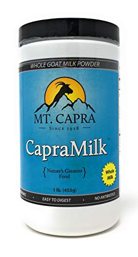 MT. CAPRA Since 1928 CapraMilk (Whole) | A Whole Goat Milk Powder, Easy to Digest - 1 Pound (Cream Mount)