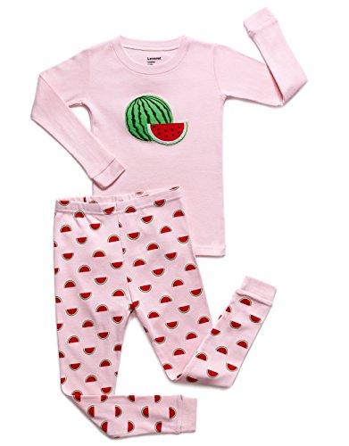 Big Kids Watermelon Apparel - Leveret Watermelon 2 Piece Pajama Set 100% Cotton 5 Years