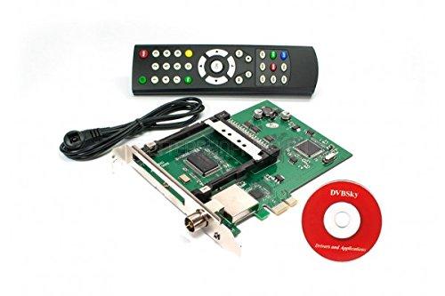 DVBSky T980C V2 PCIe Karte mit 1x DVB-T2 / DVB-C Tuner und CI Common Interface Slot für PayTV
