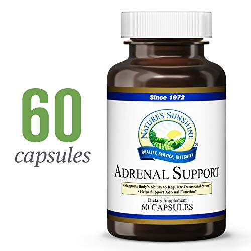 Nature's Sunshine Adrenal Support, 60 Capsules | Stress Relief Supplement Assists The Body in Maintaining Normal Adrenal Function and Regulating Stress