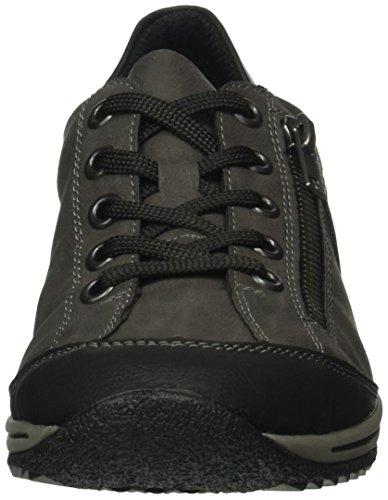 Rieker Women's L5224 Low-Top Sneakers, Grey, 3.5 UK Grey (Schwarz/Fumo/Schwarz/00)