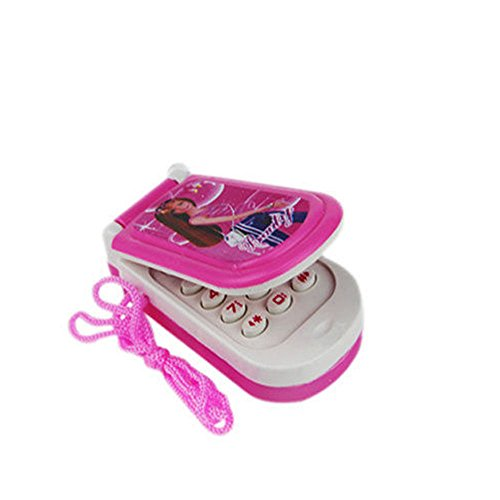 Shopline Baby Barbie Music Mobile Phone Toy, Toddler Bright Educational Toy for Kids Boys Girls