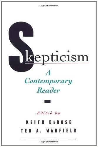 Livres en ligne à télécharger en pdfSkepticism: A Contemporary Reader (Contemporary Studies in Philosophy and) 0195118278 (French Edition) PDF DJVU FB2