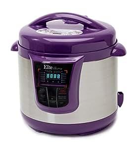 Elite Platinum 8 Quart 14-in-1 Multi-Use Programmable Pressure Cooker, Slow Cooker, Rice Cooker, Sauté, and Warmer - Purple