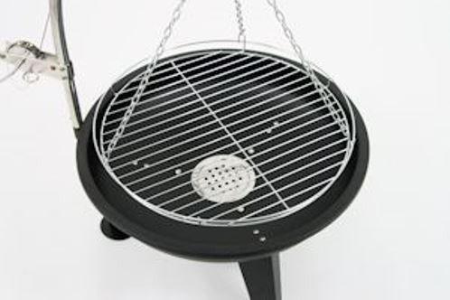 Parrilla Robusto Trípode Parrilla oscilante Asador a carbón vegetal Receptáculo De Fuego altura regulable Ø 64CM: Amazon.es: Electrónica