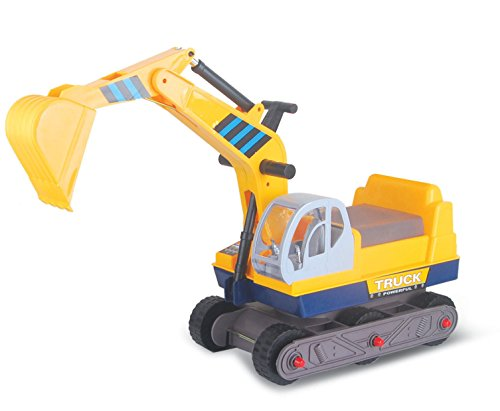 Vroom Rider 6-Wheel Excavator Ride-On, Yellow