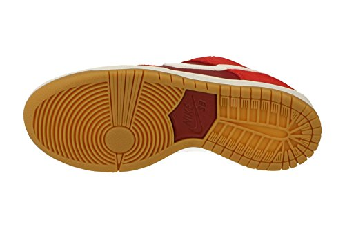 Nike Menns Sb Zoom Dunk Lav Pro Skatesko Spor Rød Hvit Seder 616