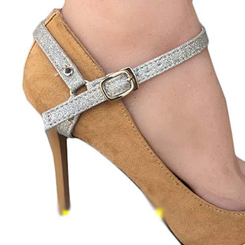 Decoraci Wukong los antideslizante mujeres Accesorios zapatos de Cinturones Correas calzado Tacones las de de cordones Paradise altos rS1r7wa