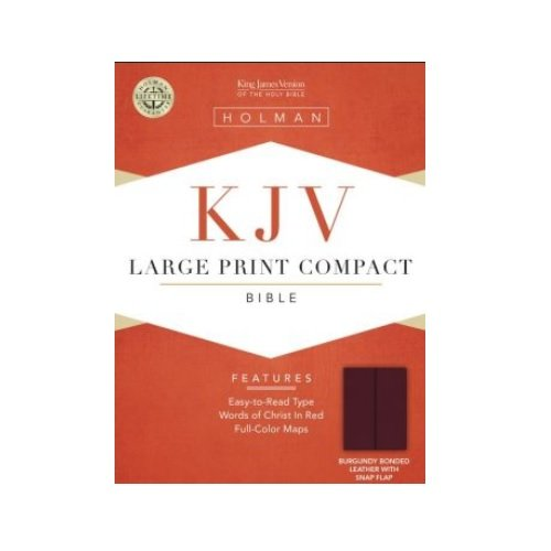 Large Print Compact Bible-KJV-Snap Flap Compact Reference Bible Kjv Snap