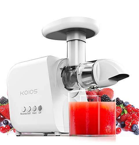 KOIOS Juicer, High Juice Yield and Germany EMGEL Motor with 2-Year Extended Warranty (White)