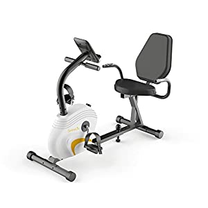 SereneLife Exercise Bike Recumbent Stationary Bicycle Pedal Cycling Trainer Fitness Machine Equipment w/Built in Digital Console for Workout, Weight Loss, Fitness & Health at Home & Office(SLXB3)