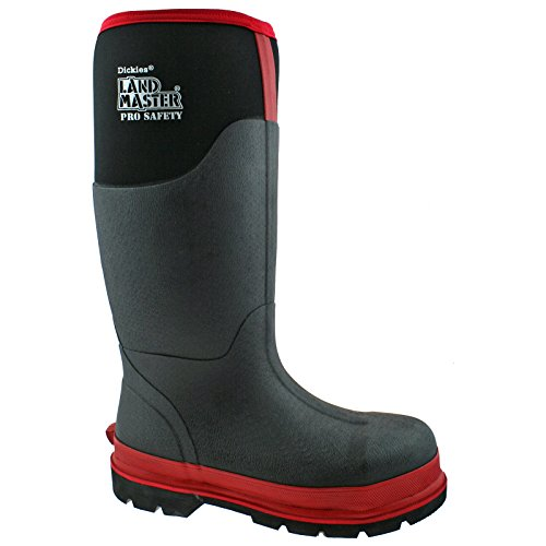 REFLECTIVE UK 47 BLACK RED 12 EU WELLIES SAFETY FW9902 LANDMASTER NEOPRENE PRO Dickies BOOTS w4TgZ