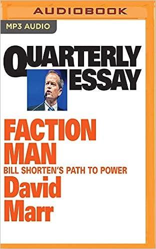 david marr quarterly essay shorten