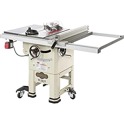 "Shop Fox W1837 10"" 2 hp Open-Stand Hybrid Table Saw"