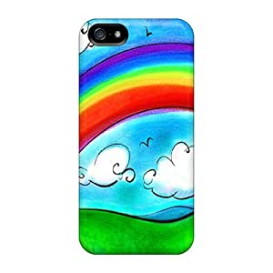 Tpu Case Cover For Iphone 5/5s Strong Protect Case - Colorful Rainbow Design