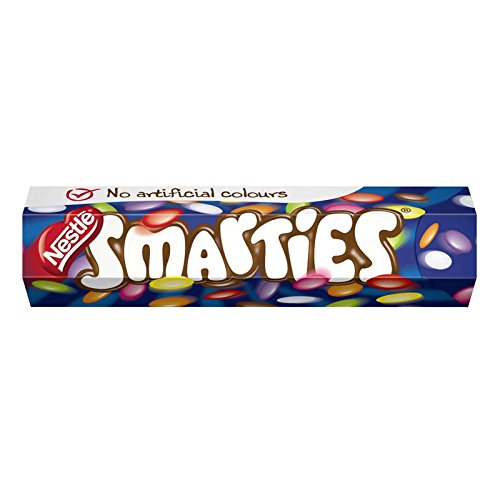 Nestle Smarties - FOUR pack Chocolate Candy Tubes 38g each