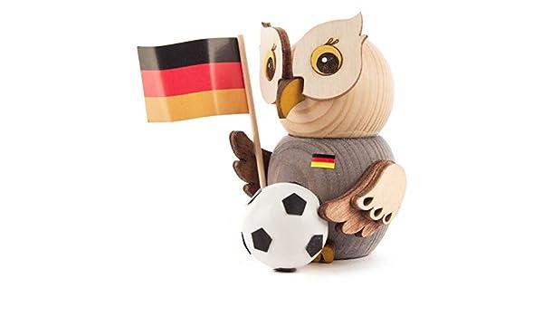 Figura de lechuza en miniatura con balón de fútbol, 7,5 cm: Amazon ...