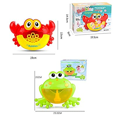 JiaJa Outdoor Blowing Bubble Frog&Crabs Baby Bath Toy Bubble Maker Swimming Bathtub Soap Machine Toy for Children with Music Water Toy,with Box: Toys & Games
