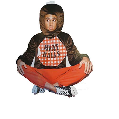 Meatball Spaghetti Adult Costume Shirt Headpiece -