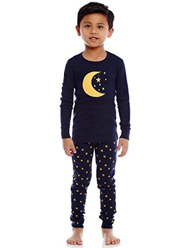 "Leveret Boys Girls ""Moon & Stars"" 2 Piece Pajama 100% Cotton (6M-14 Years)"