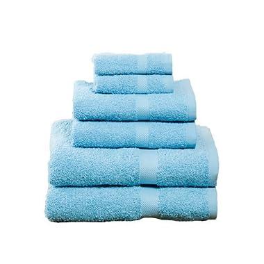 100% Soft Cotton – 6 Piece Towel Set (Aqua)