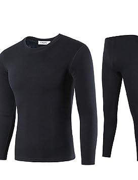 Ropa interior térmica de lana de los hombres Chlove logoterapia o-cuello interior terciopelo traje