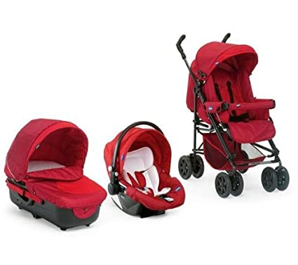 Chicco 4079142110200 Trio-Living - Carrito convertible (3 posiciones), color rojo