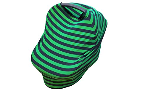 Nursing Cover, Breastfeeding Scarf | Use for Baby Car Seat, High Chair, Shopping Cart, Stroller or Swaddle Blanket | Cotton | Multi Use and Stretchy | with Baby Hat Included