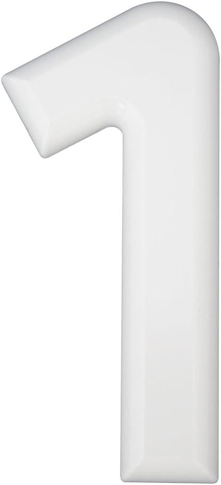 Hausnummern b Kunststoff wei/ß 1 St.