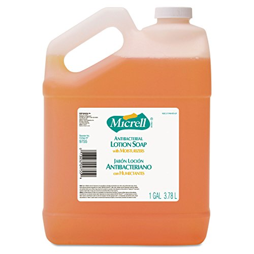 MICRELL Antibacterial Lotion Soap, Gallon Pour Bottle (Antiseptic Lotion Hand Soap)
