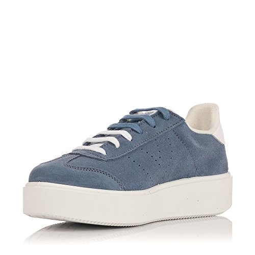 Blu Sneakers Victoria Pelle Donna Azul wWYWI0Hq