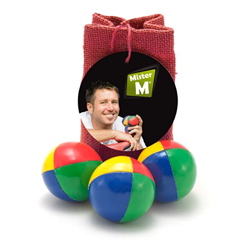 3 Juggling Balls + Burlap Bag + Free online Instructional Video by MisterM
