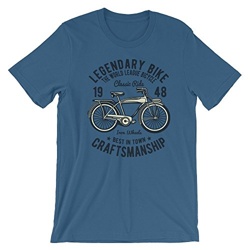 Ground 29 Legendary Bike Craftsmanship Classic Ride Iron wheels Bicycle T-Shirt (Large)