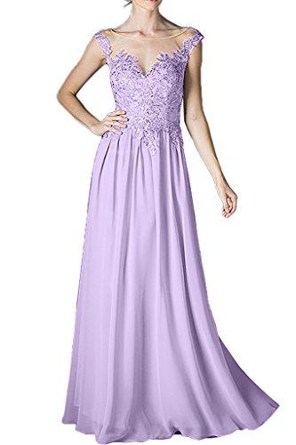 Brautmutterkleider Kleider Bodenlang Spitze Gold Braut Formal La Chiffon Kleider Dunkel mia Linie Abendkleider A Rock Lilac Festlich Aw7X4qPY