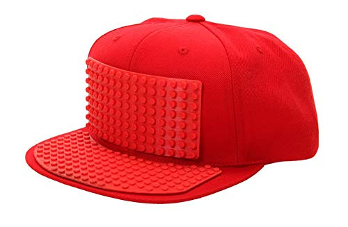 30c092c216597 Bricky Blocks Red Snapback Hat for Kids and Adults by elope